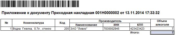 Проверка алкогольной декларации с данными поставщика